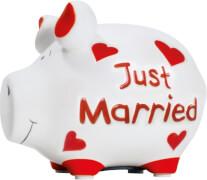 Sparschwein ''Just Married'' - Kleinschwein von KCG - Höhe ca. 9 cm